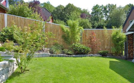 Bambuszaun Garten
