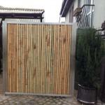 Bambuszaun als Abtrennung (Bambuswand)