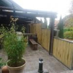Bambuszaun Vorsatzwand