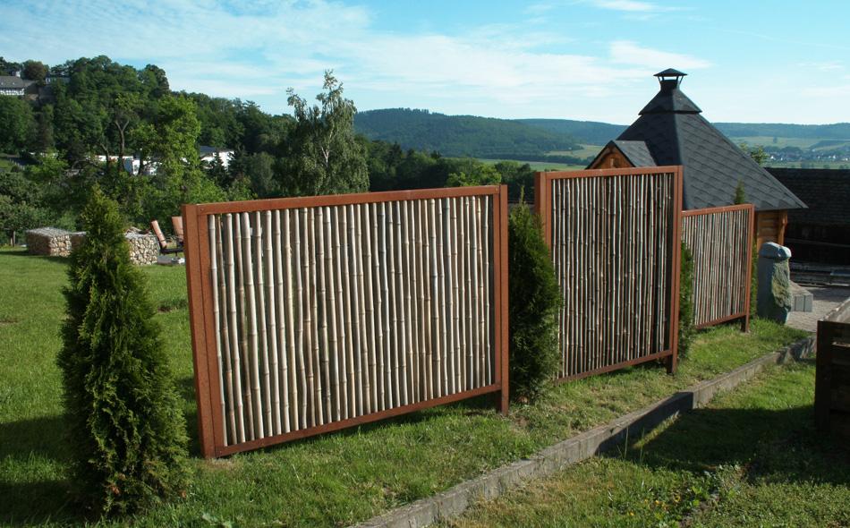 Cortenstahl - Gartenzaun blickdicht ...