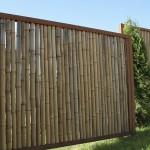 Cortenstahl Bambuszaun