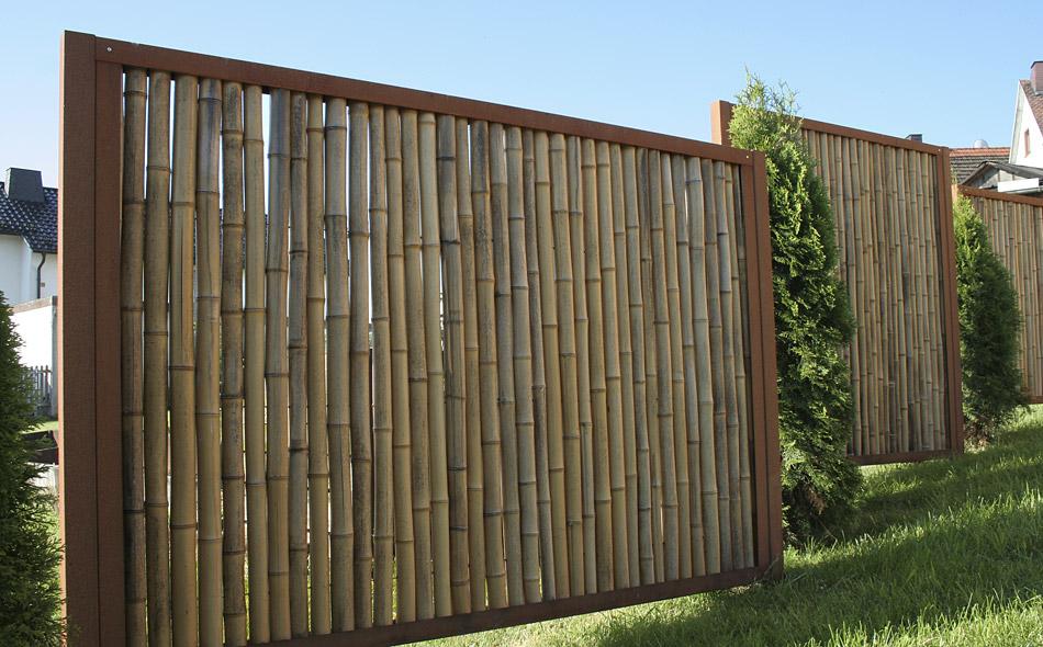 Wenn Die Kunst In Den Garten Kommt Bambus Trifft Cortenstahl