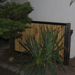 Sichtschutzelement Bambus Treppenverkleidung